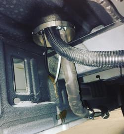 Ford Transit heater floor mount