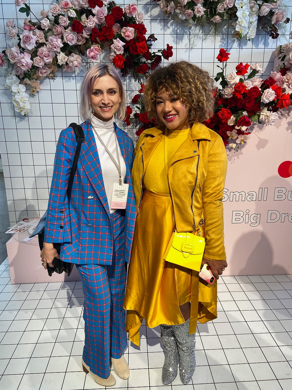 Author poses with Instagram star Courtney Quinn