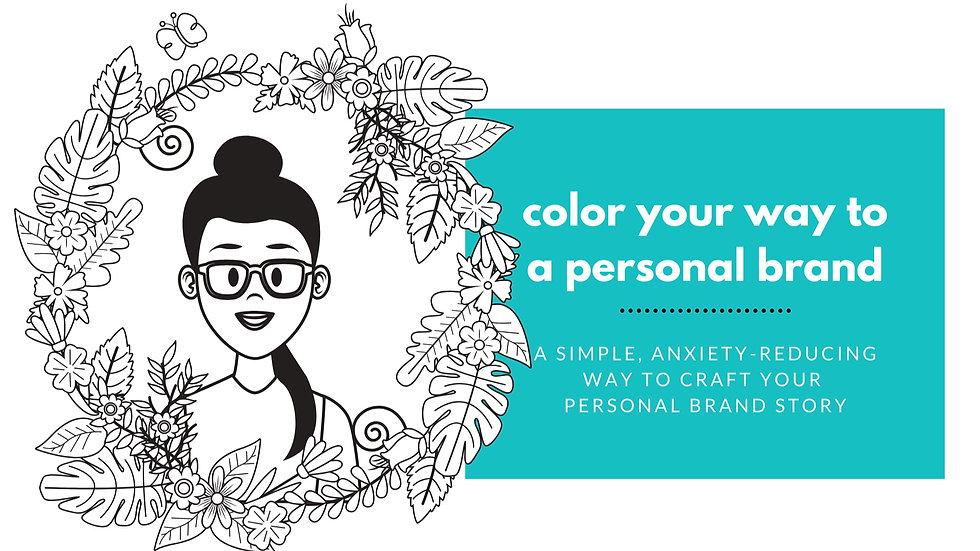 Personal brand coloring book (digital download)
