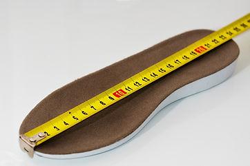 close-up. Shoe size measurement. Measure