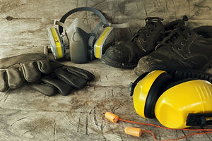 Standard construction safety equipment.s
