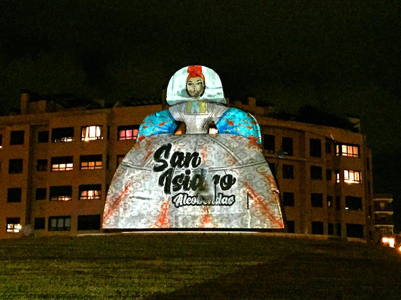 Video Mapping Menina de Alcobendas San Isidro 2020
