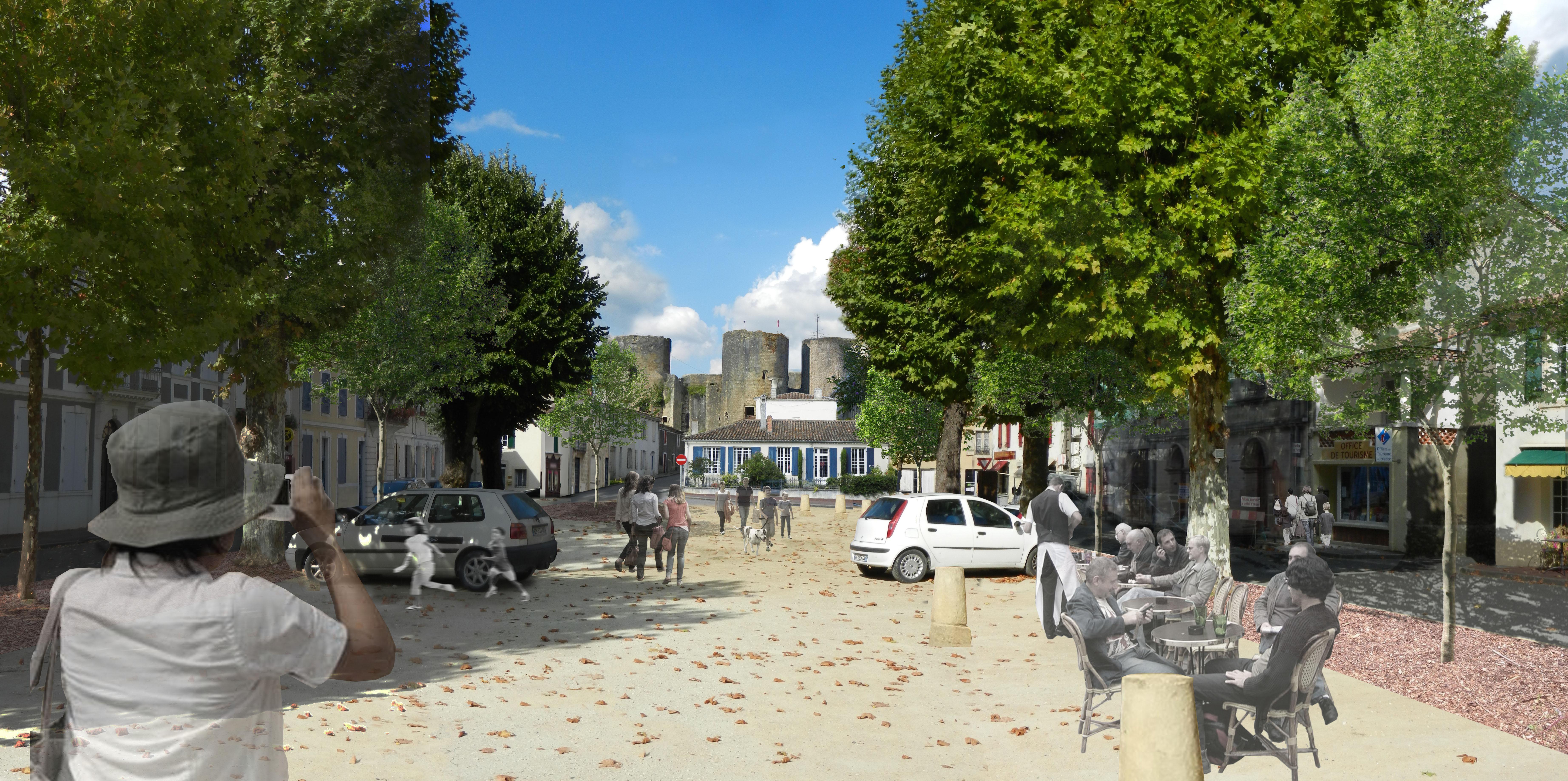 Villandraut - Place Grl de Gaulle