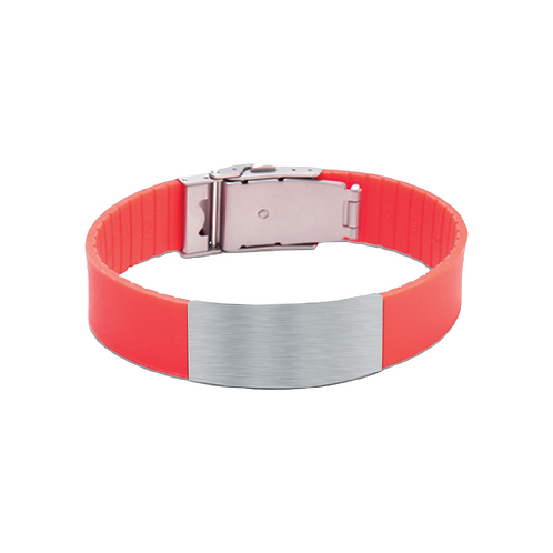 its personal red silicone bracelet
