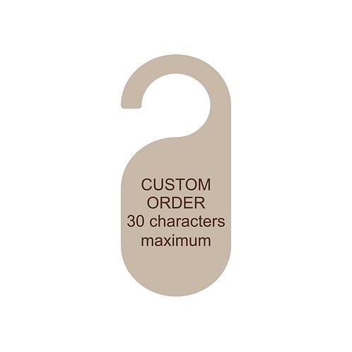 custom doorknob sign
