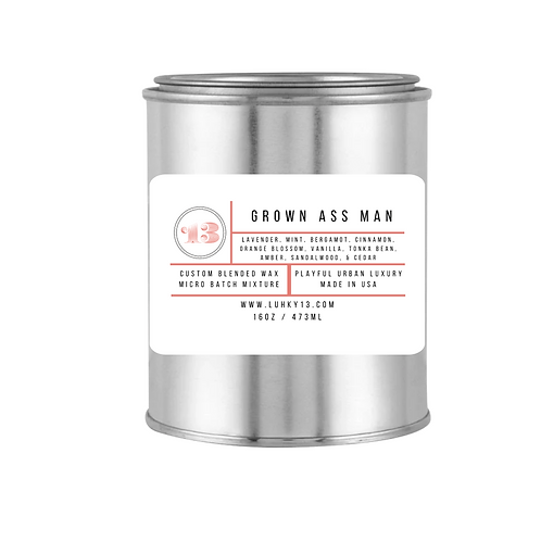 grown ass man scented candle