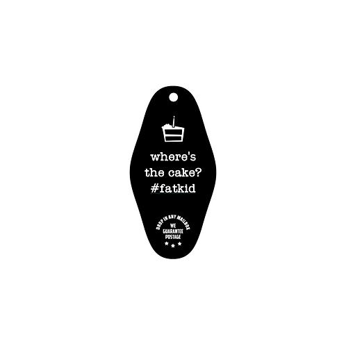 fat kid ID and key tag
