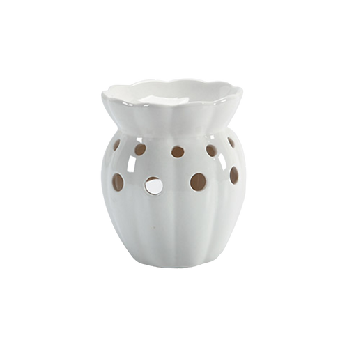cream ceramic wax tart warmer