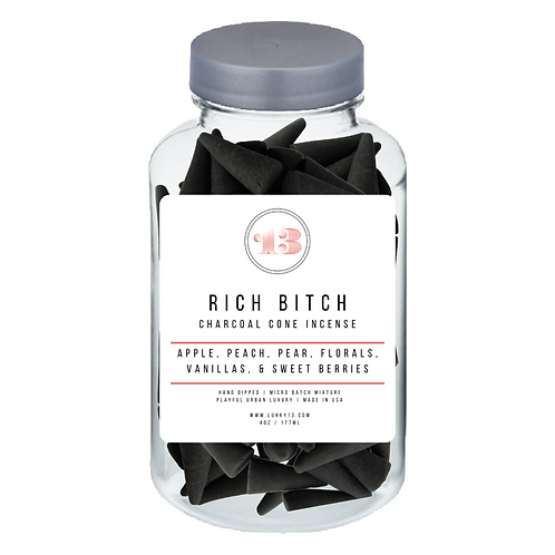rich bitch cone incense