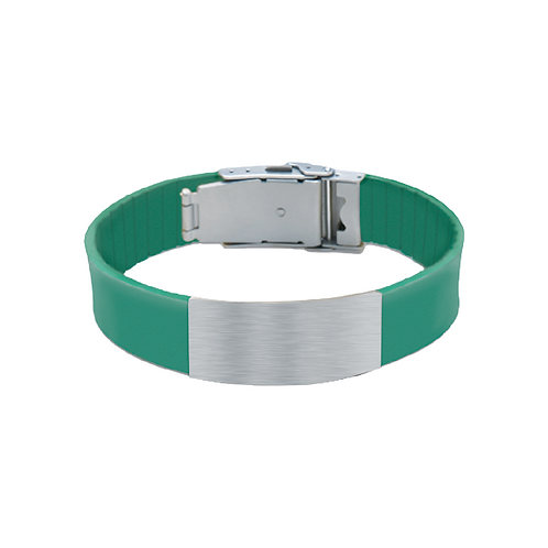its personal green silicone bracelet