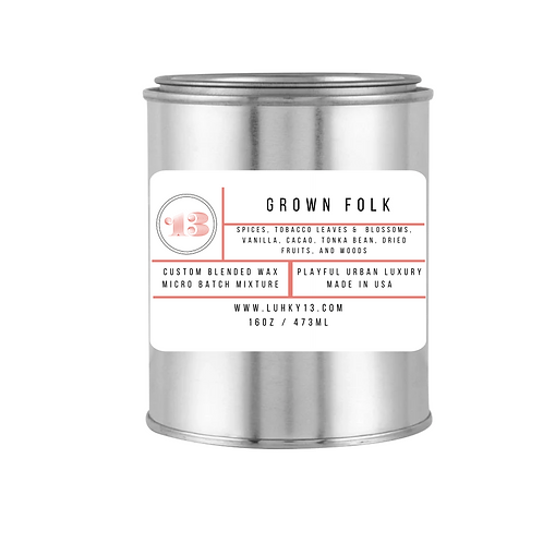 grown folk candle