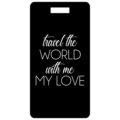 travel the world bag and luggage tag