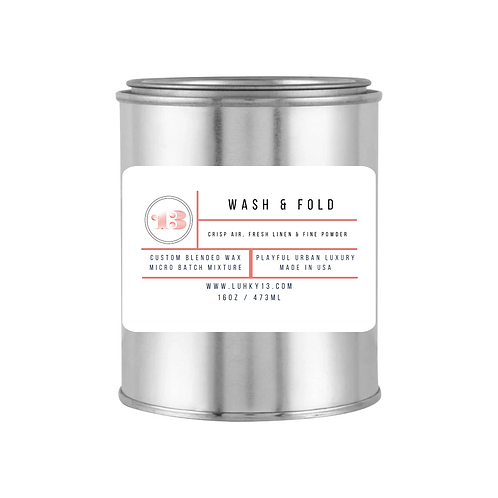 wash & fold scented candles