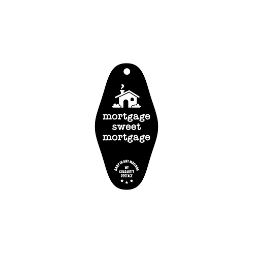 mortgage sweet mortgage vintage ID and key tag