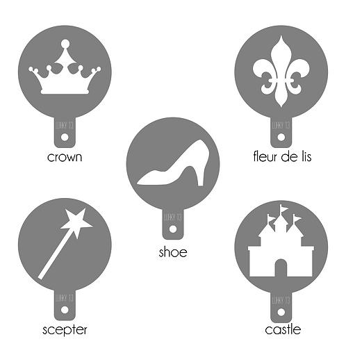 princess food & craft stencil