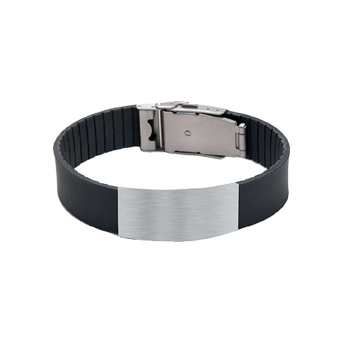 its personal black silicone bracelet