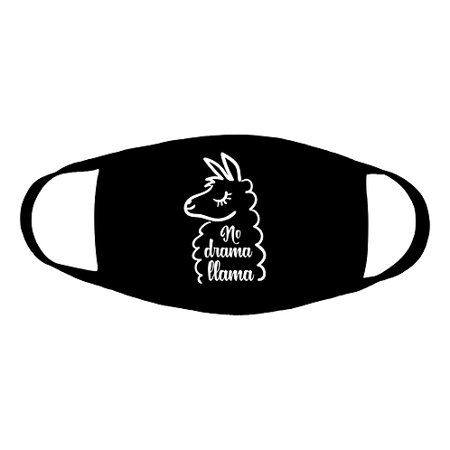 no llama drama cotton face mask