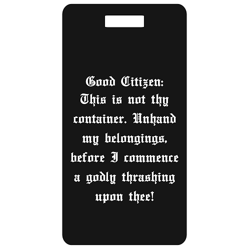 good citizen metal bag and luggage tag