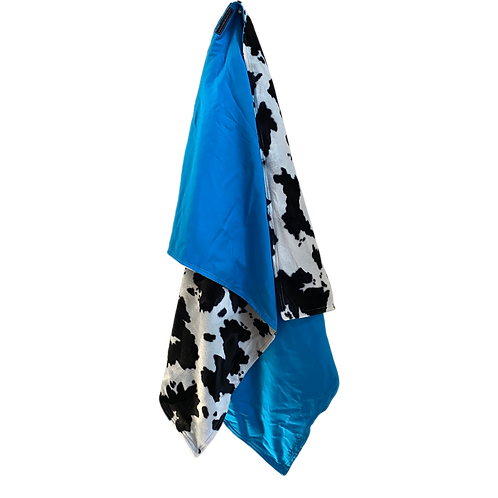 happy heifer home & travel blanket