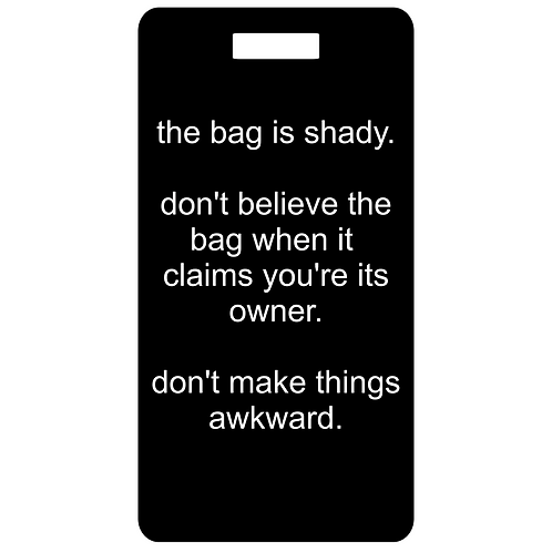 shady bag bag and luggage tag
