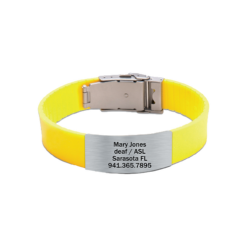 its personal yellow silicone bracelet