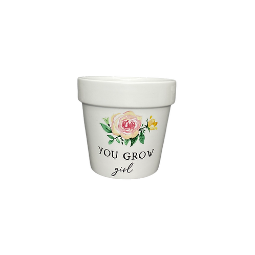 you grow girl scented candle - flower pot