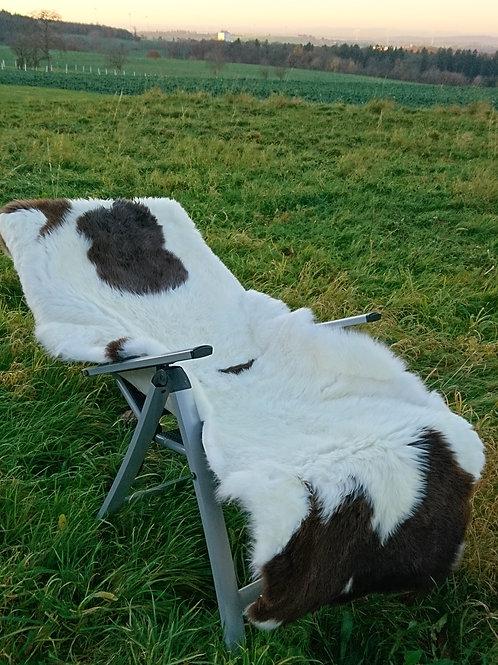 Schafbettfell aus 2 Fellen naturbunt