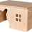 Thumbnail: Kaninchenhaus mit Hasen Ausgang (Lasiert)
