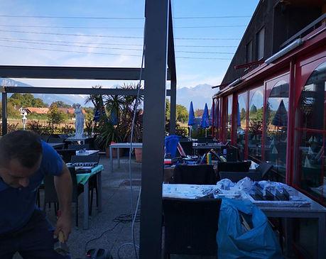 Neue Bavona Soft-Top Anlage beim Restaurant Cavallino in Thun