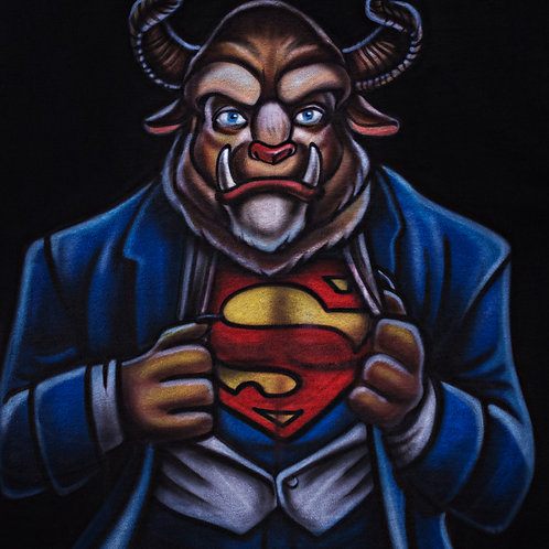 Superman Beast Airbrushed Shirt