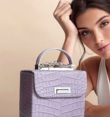 Collection of bejewelled bags designed and handcrafted exclusively for Fleurdelis.ae