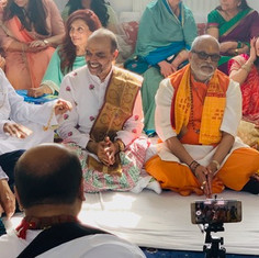 Pujya Rambapa and guests