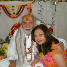 Pujya Rambapa and Bhartiben