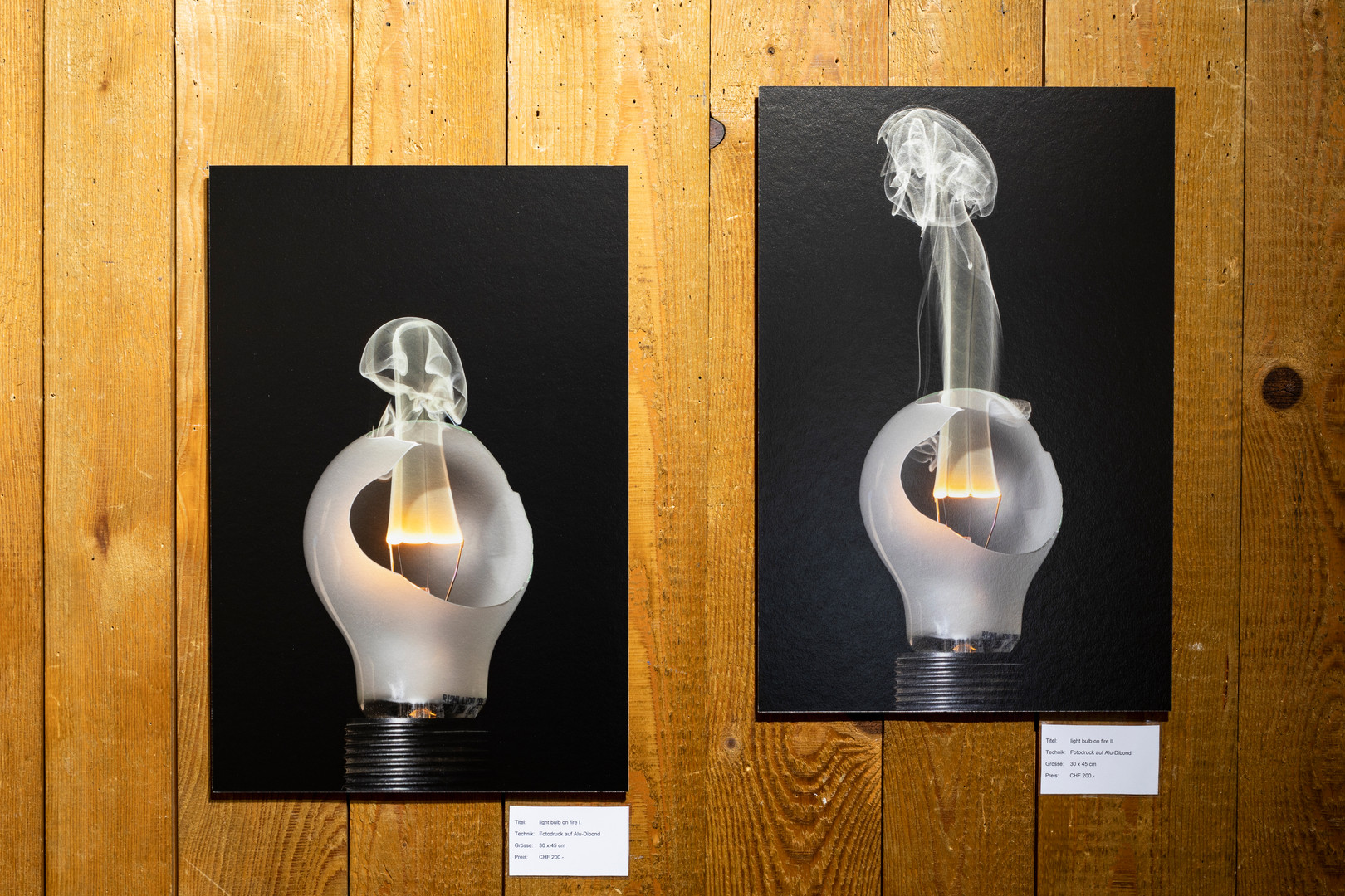 light bulb on fire I. und II.