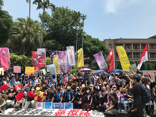 Migrant Workers Rally After International Workers' Day, Call for Household Services Act