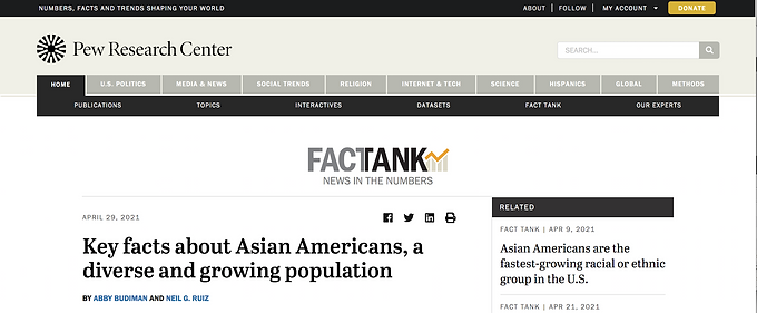 Pew Research Center Report Causes Outrage Among Taiwanese Americans
