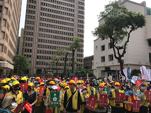 Thousands Demonstrate in Taipei for International Workers' Day