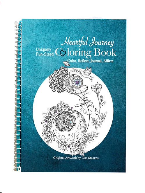 Heartful Journey Coloring Book/ Journal