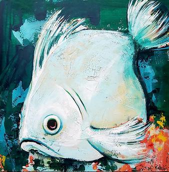 Passion poisson 24x24po. Disponible