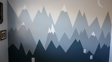 Mountain Mural in Nursery