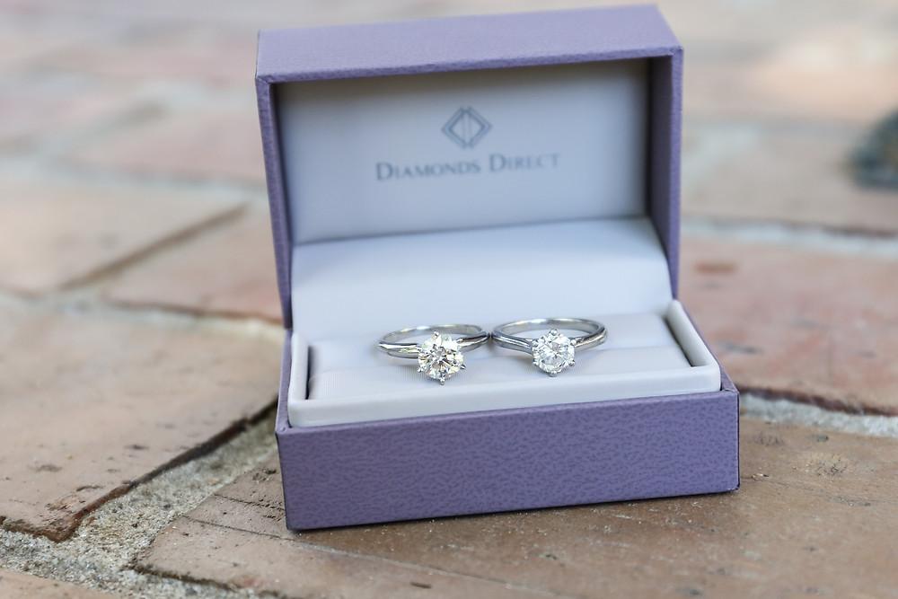 New diamond is on the left.