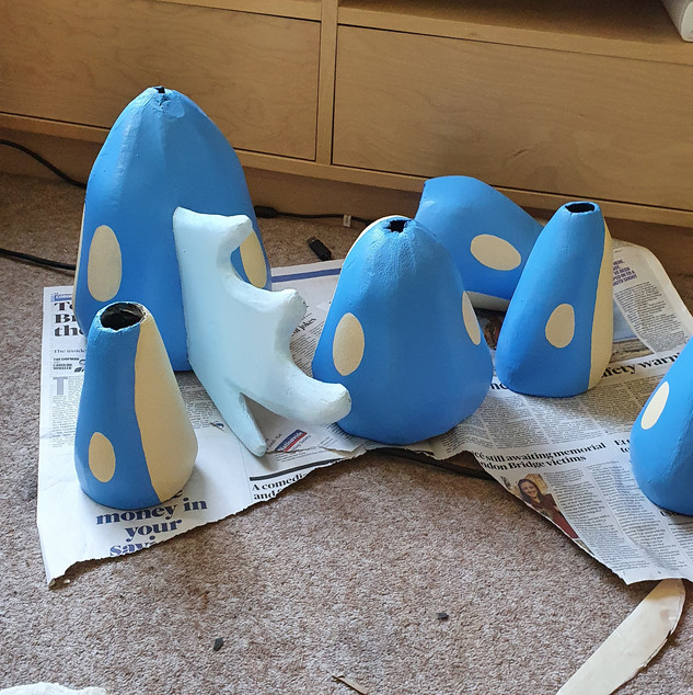 Painting tail segments