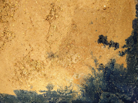 Sandstone Sample with Ink