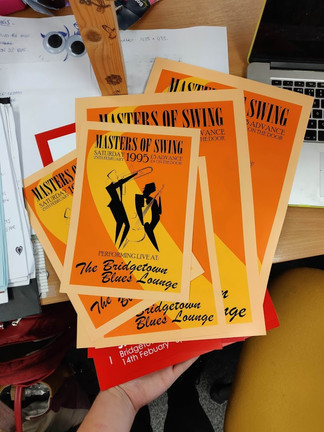 Cheesey Swing Band Poster