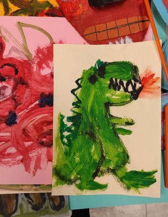 Epic Dinosaur Kids Painting