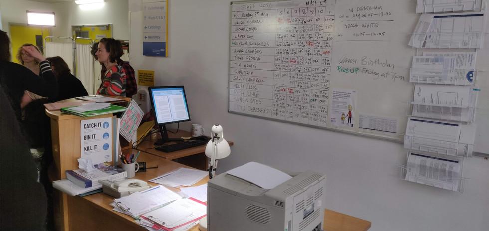 A&E Nurse Desk