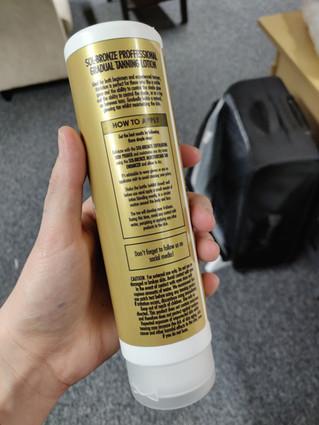 Tanning Bottle Label