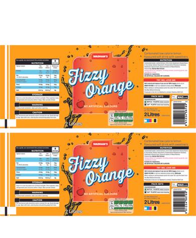 Fizzy Orange Label