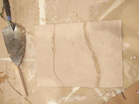 Cracked Concrete Sample Pre-Paint