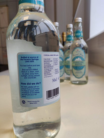 Sparkling Water Label Reverse